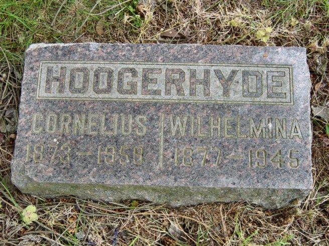 01 Apr 1945 Salem, OR A-23-03-02 on marker w/Cornelius Hoogerhyde RI #1508  Wilamina Hoogerhyde, died 01 Apr 1945, buried 04 Apr 1945 Block ...